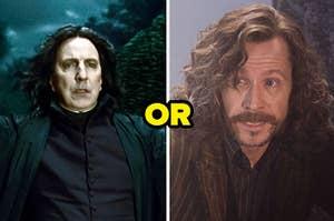 Snape and Sirius Black