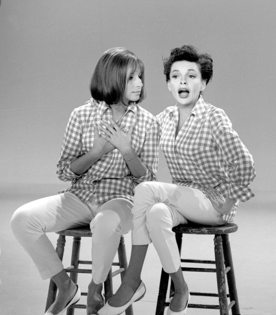 "Barbra Streisand and Judy Garland on ""The Judy Garland Show"" in 1963"