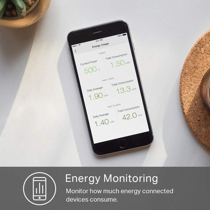 app on cell phone used to monitor energy consumption