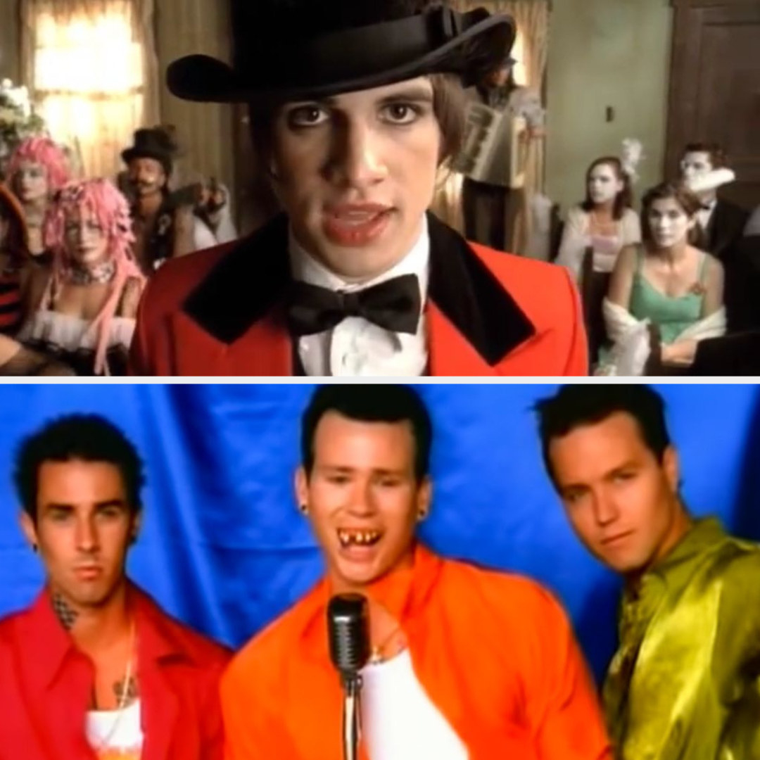 "Panic! at the Disco's ""I Write Sins Not Tragedies"" music video; Blink-182's ""All the Small Things"" music video"