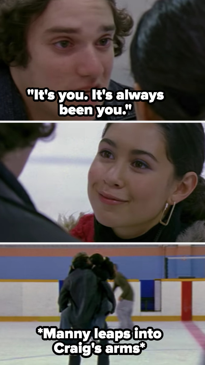 """Craig chases after Manny at the ice rink and tells her """"it's always been you"""""""