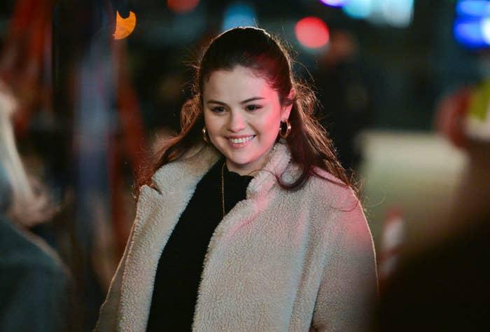 Selena with brunette hair