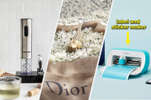 electric wine cork, dior perfume and cricut joy
