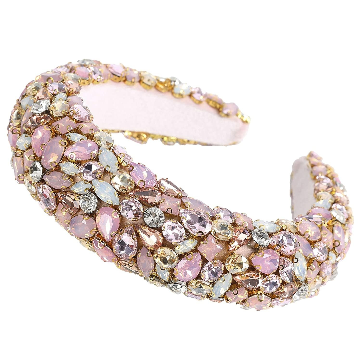 The pink bedazzled headband