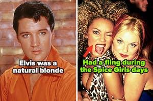 Elvis Presley; Mel B and Geri Halliwell during their Spice Girls days