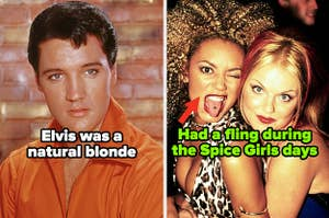 Elvis Presley; Mel B and Geri Halliwell during their Spice Girls days