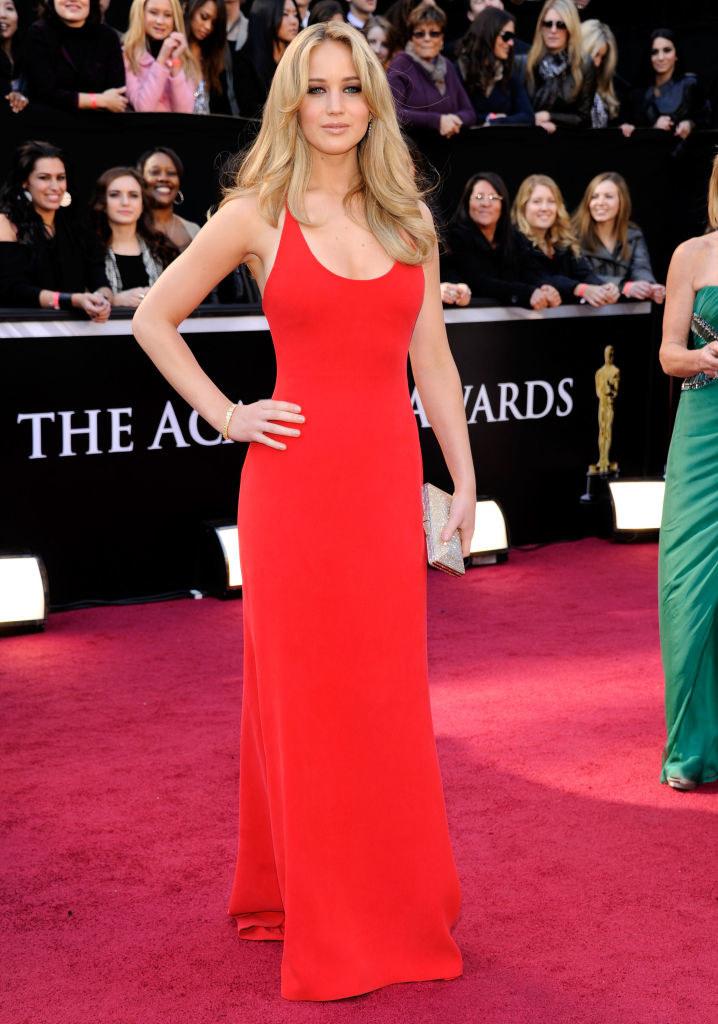 Jennifer in a simple halter dress