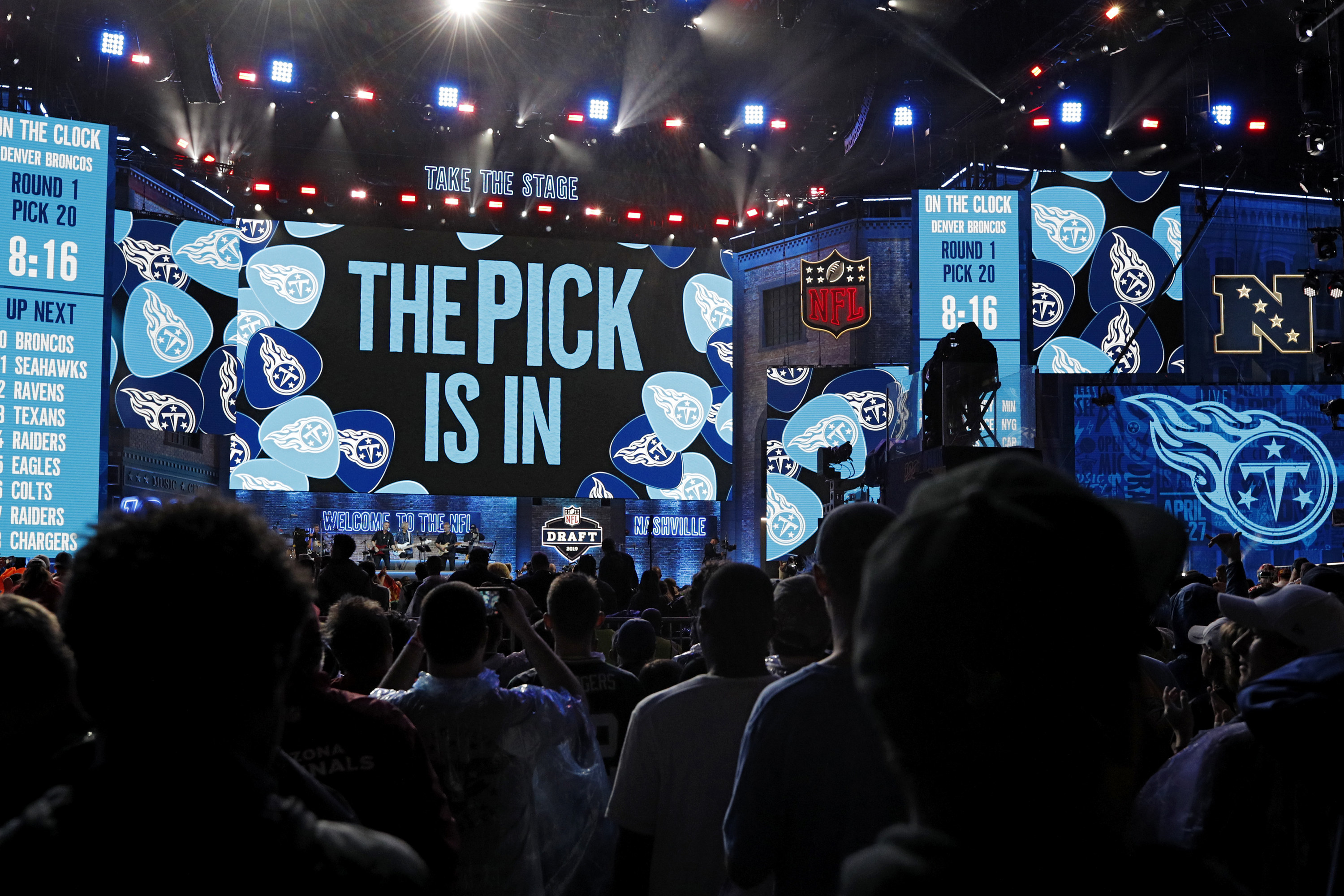 NFL Draft ceremony stage and crowd