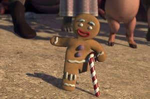 Gingerbread Man waving