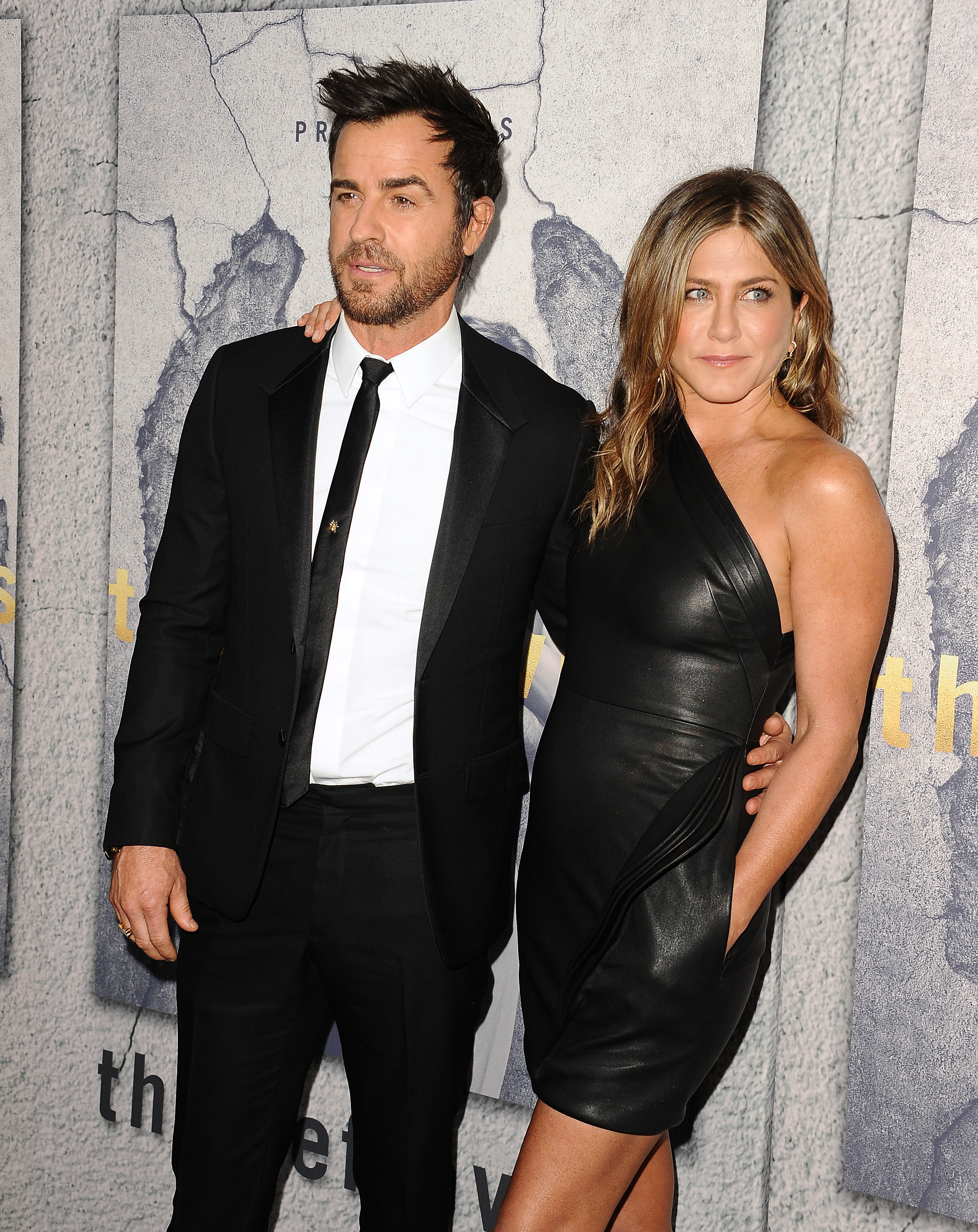 Theroux and Aniston at the Season 3 premiere of The Leftovers in 2017