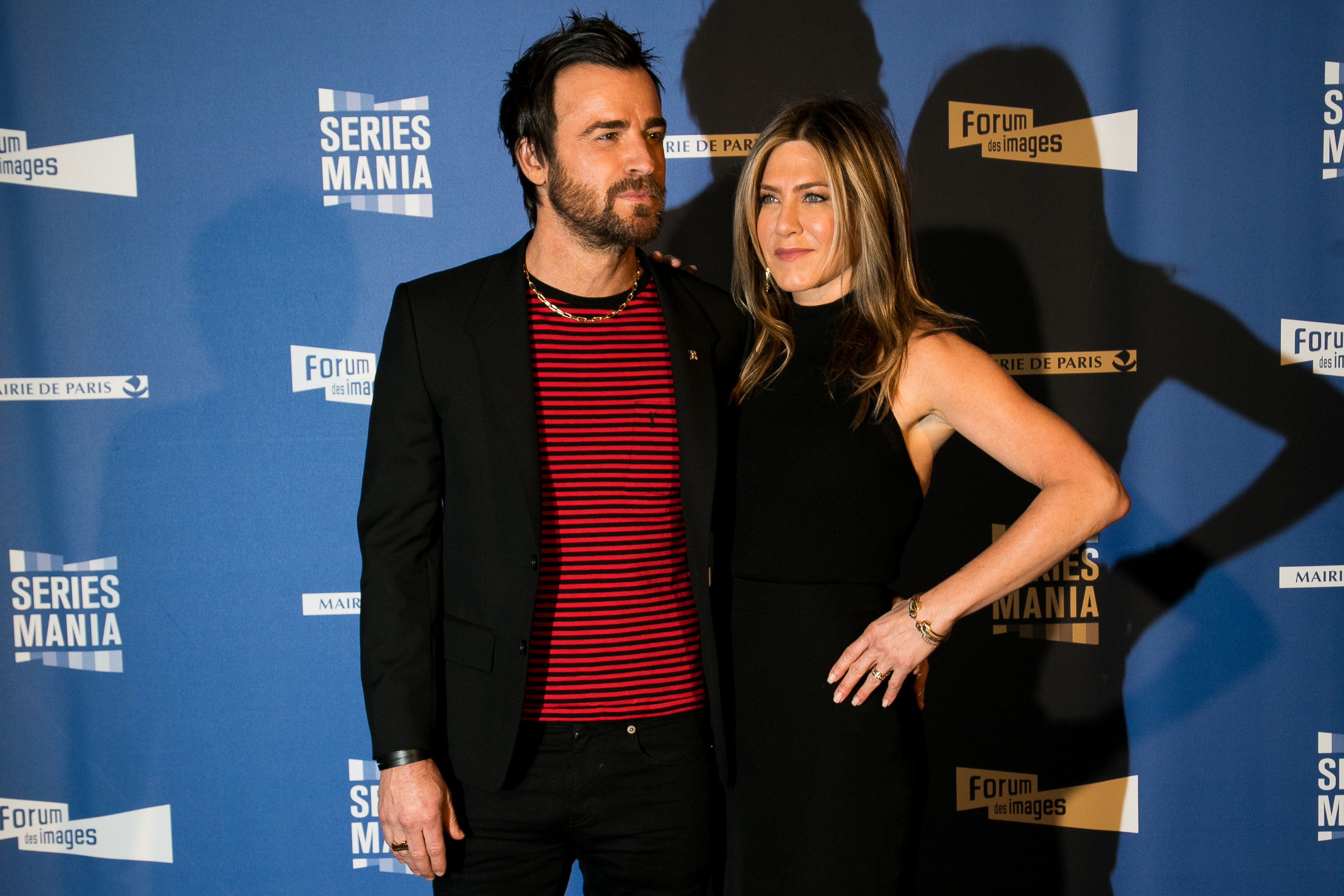 Theroux and Aniston at the Series Mania Festival red carpet in 2017