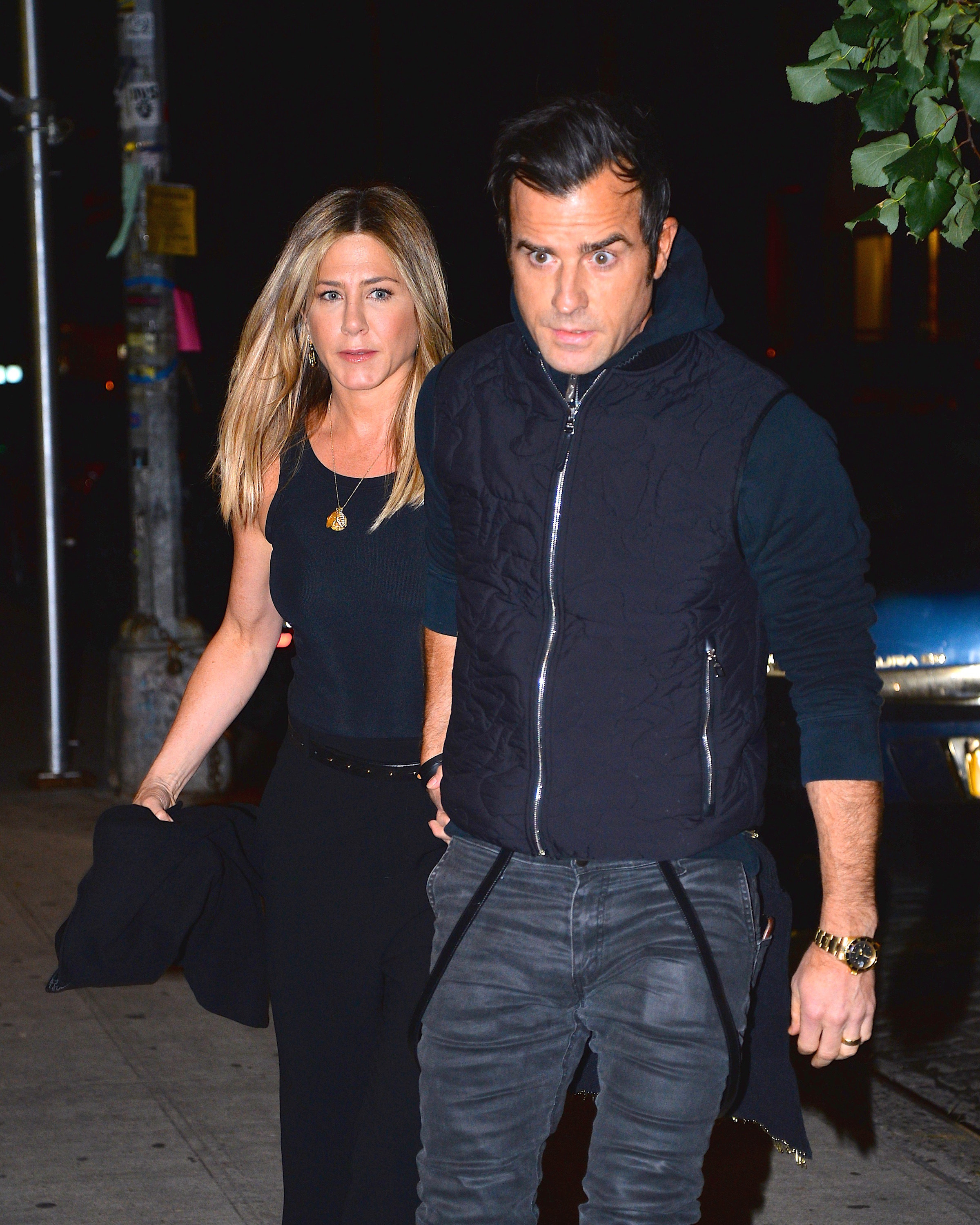 Theroux and Aniston in Manhattan in 2016