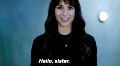 "Spencer's twin: ""hello sister"""