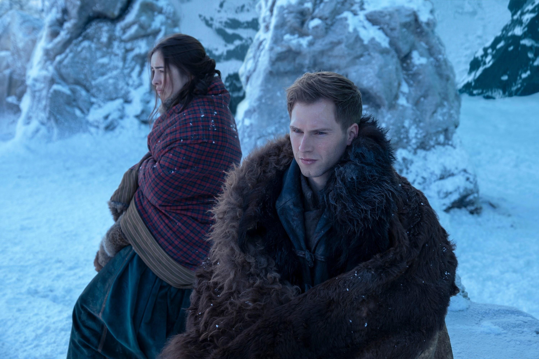 DANIELLE GALLIGAN as NINA ZENIK and CALAHAN SKOGMAN as MATTHAIS of SHADOW AND BONE