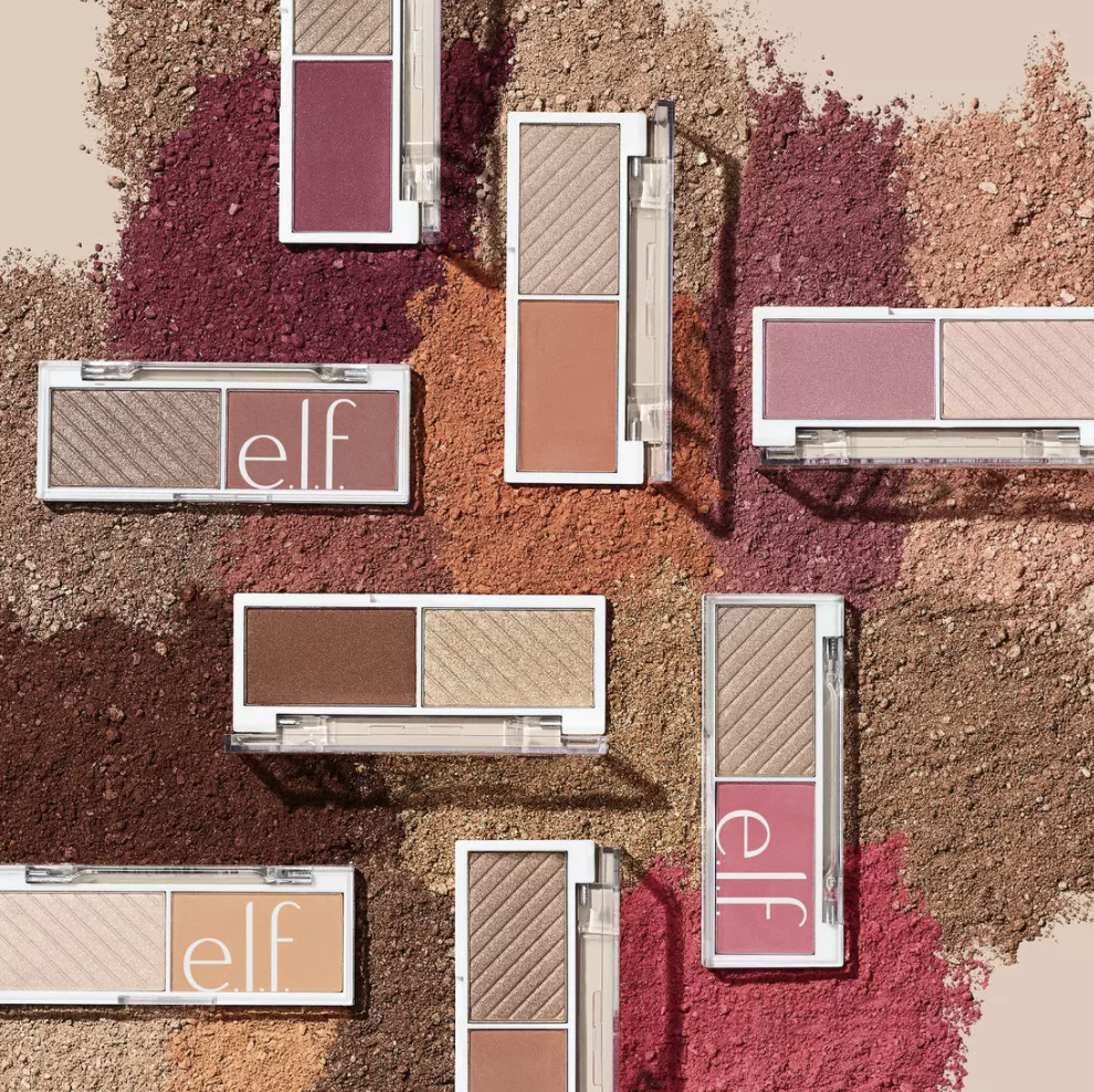 various highlighter and blush mini palettes