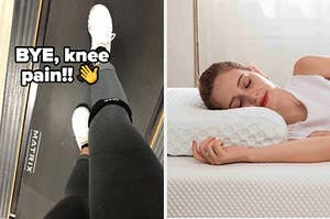knee band and pillow