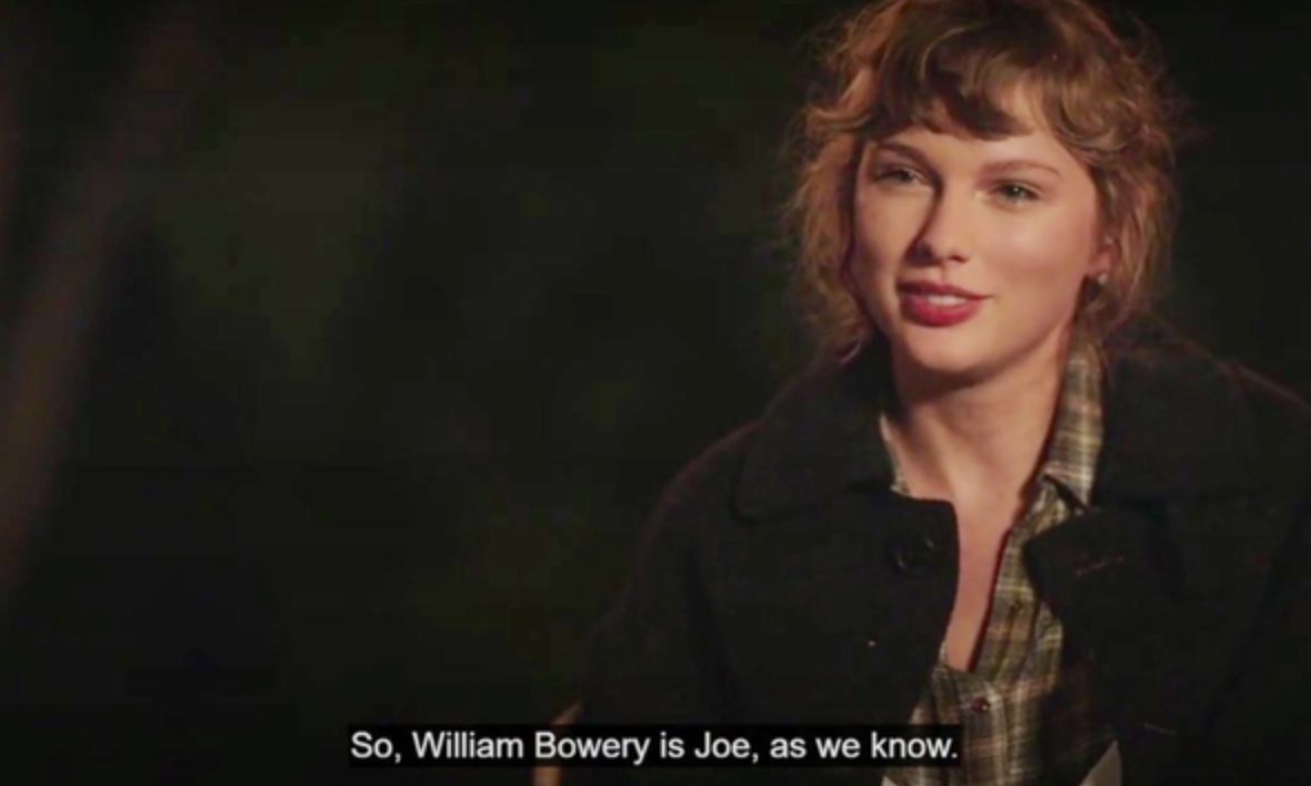 A screenshot of Taylor speaking during the documentary