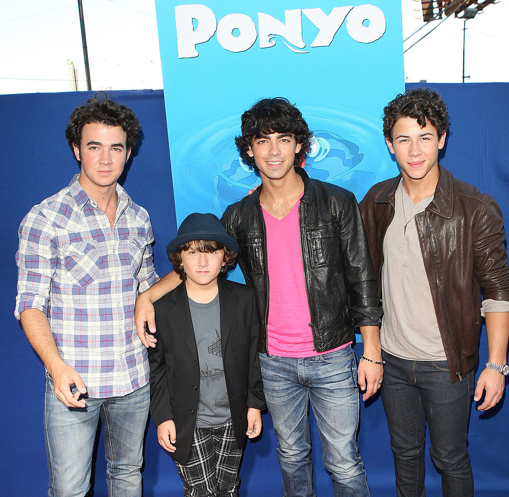 "Frankie Jonas, Joe Jonas, Kevin Jonas, and Nick Jonas of The Jonas Brothers arrive at a special screening of Walt Disney Pictures' ""Ponyo"""