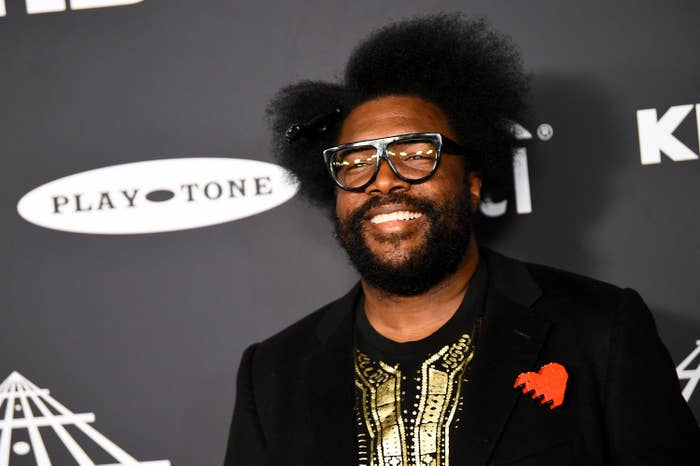Questlove at the Rock and Roll Hall of Fame induction ceremony in 2019
