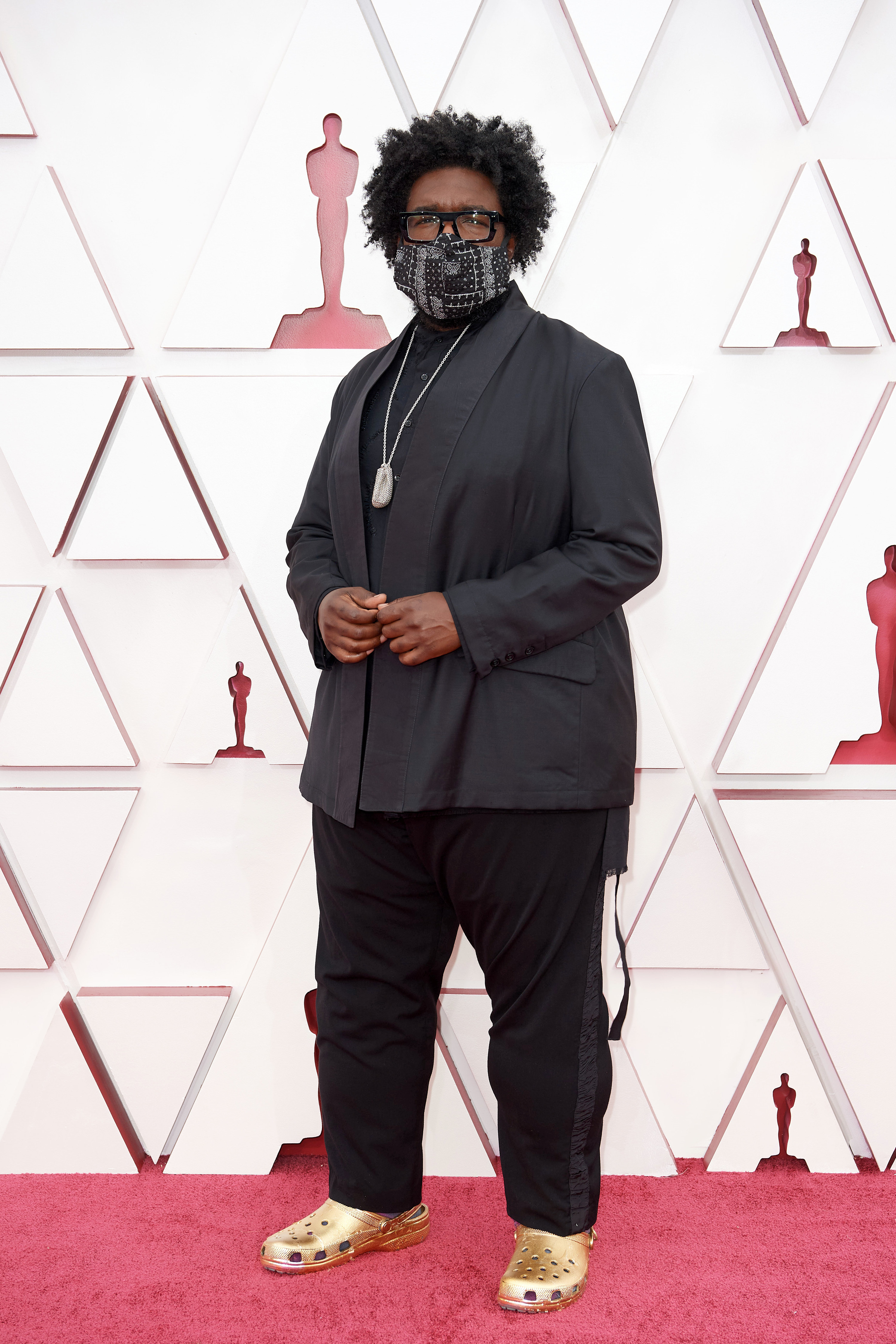 Questlove on the red carpet at the 2020 Oscars