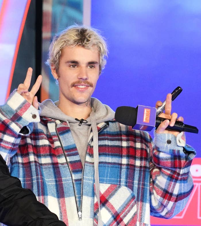 Justin Bieber at MTV's Fresh Out Live in February 2020
