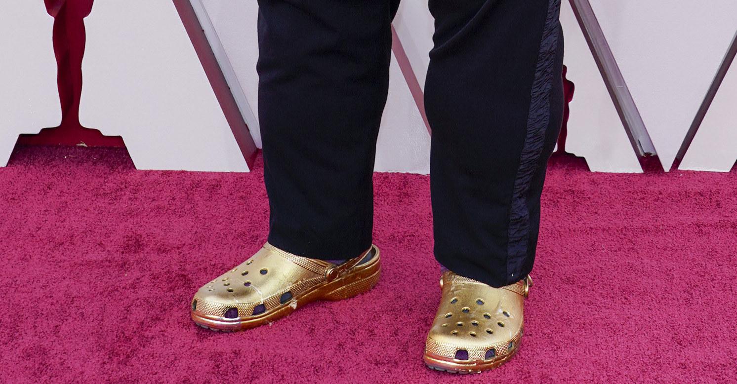 Questlove's gold Crocs