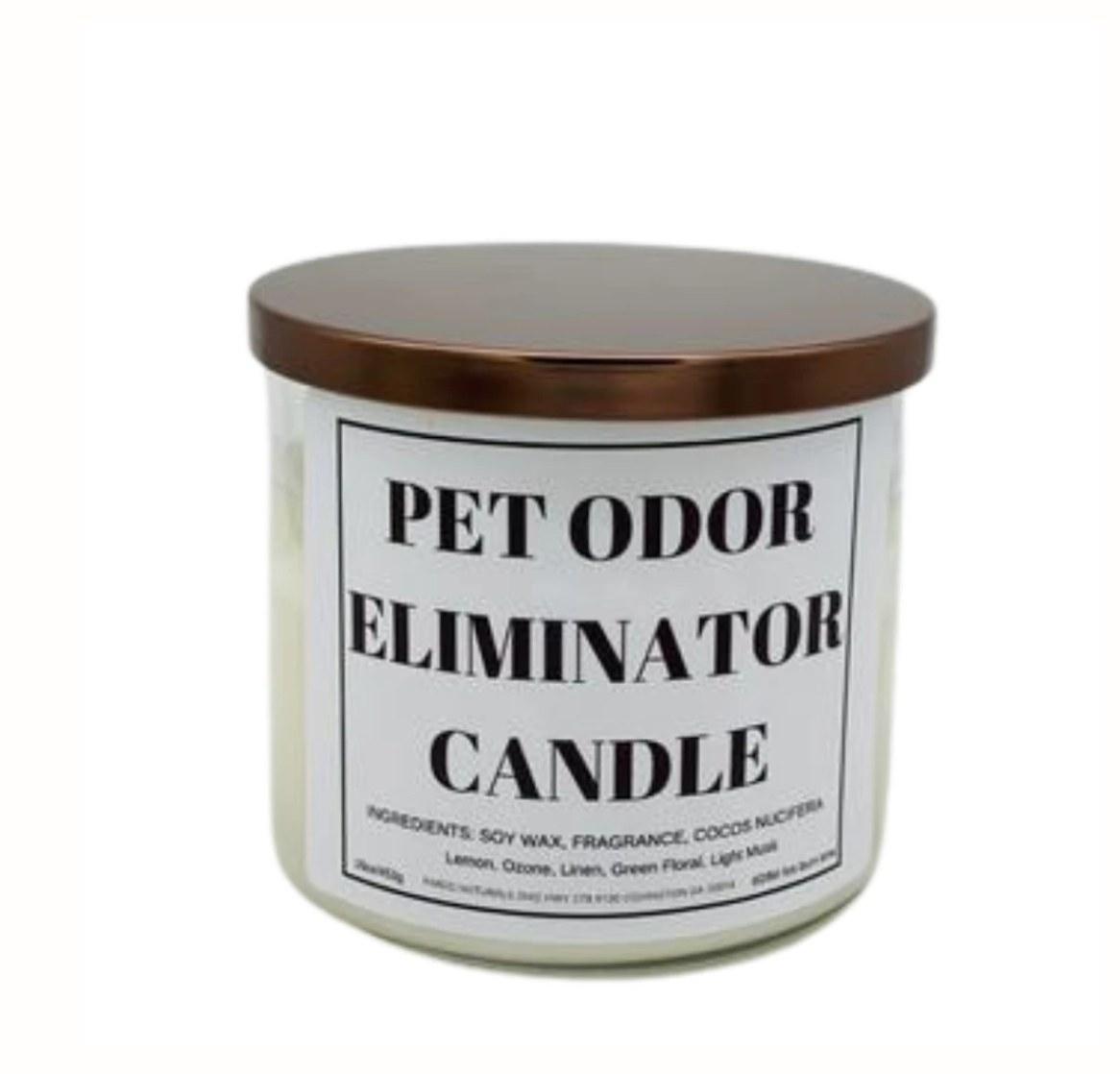 The pet odor eliminator candle
