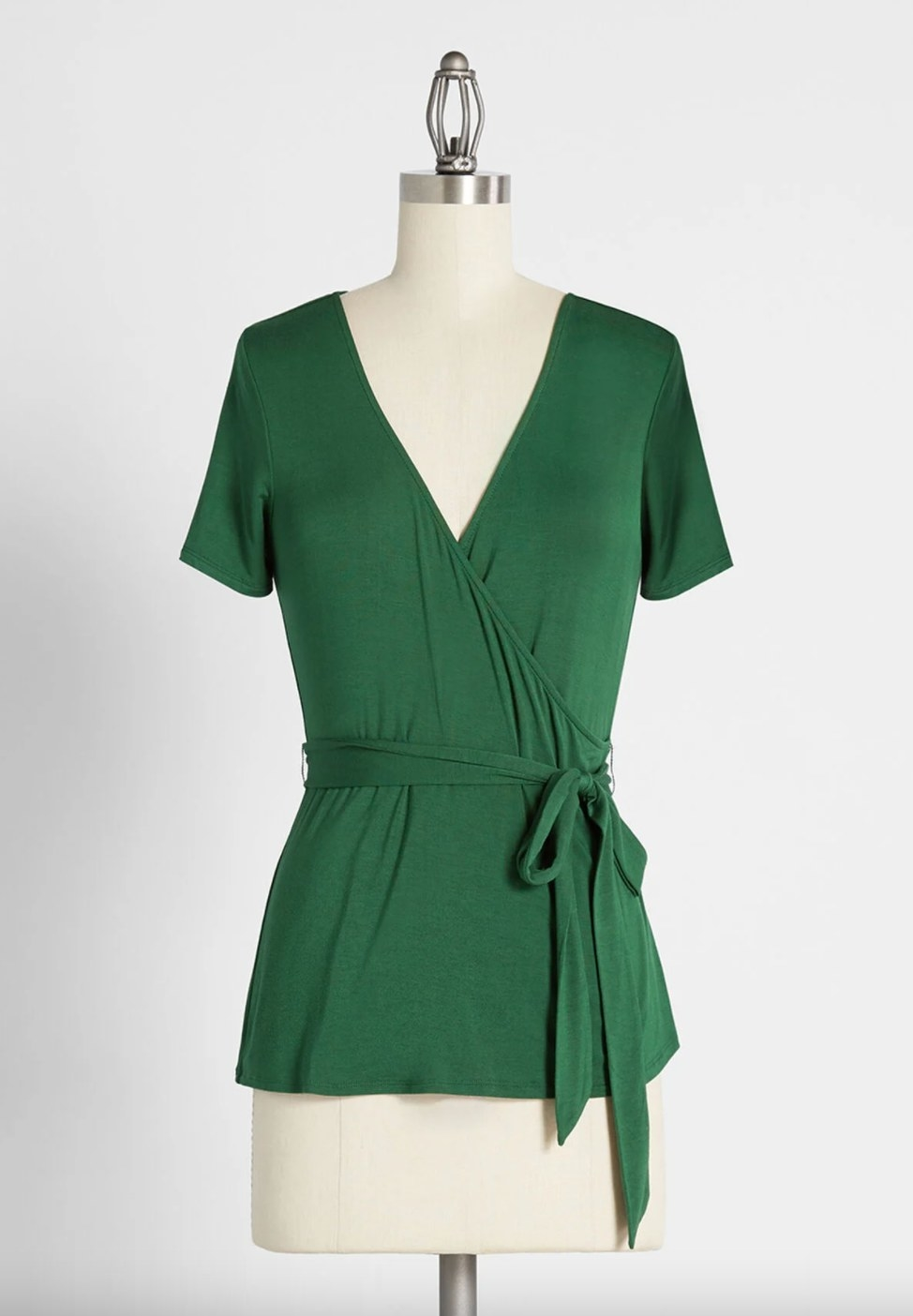 The wrap top in green