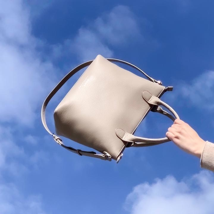 Bag being flung into the air