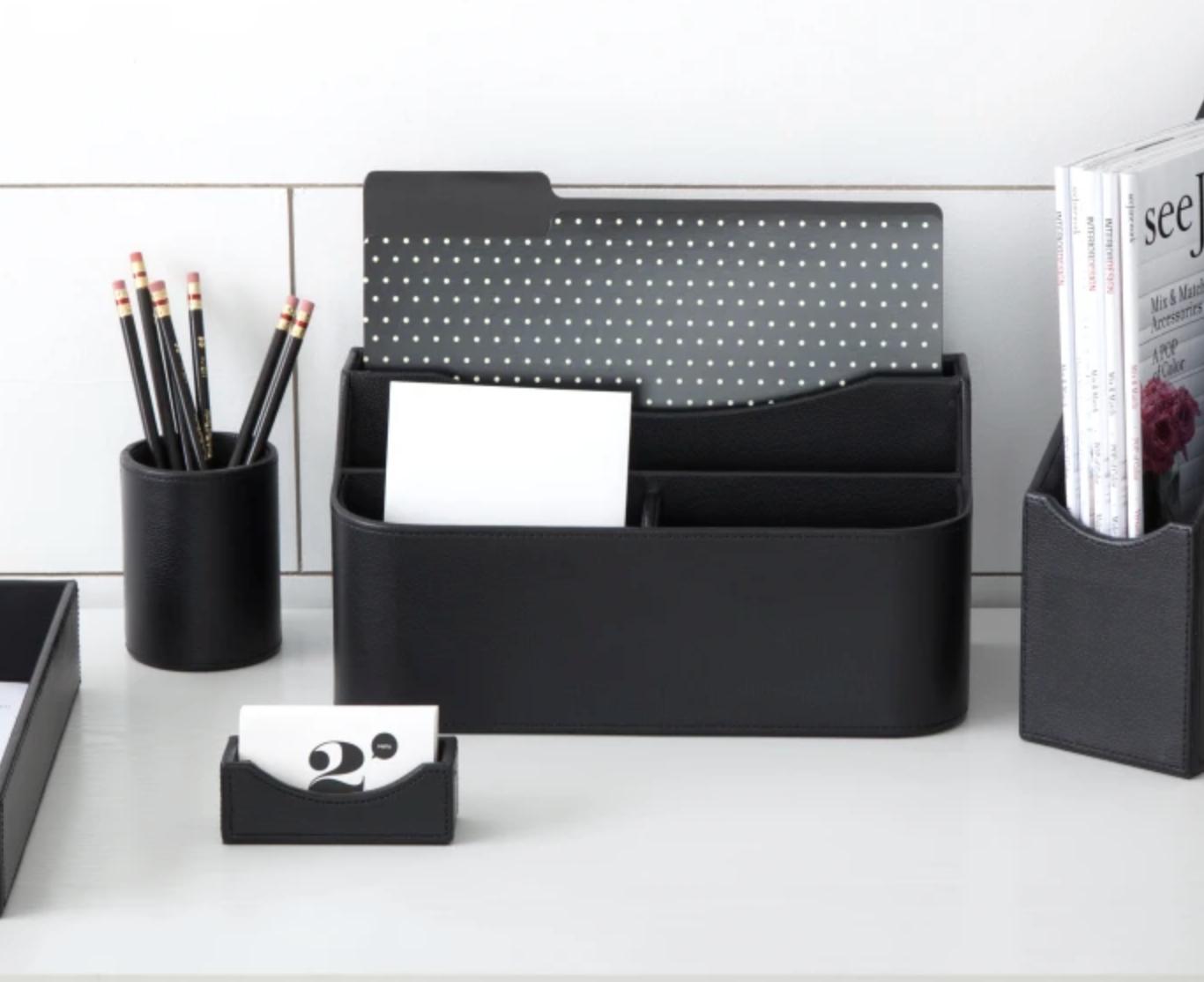 the black desk organizer