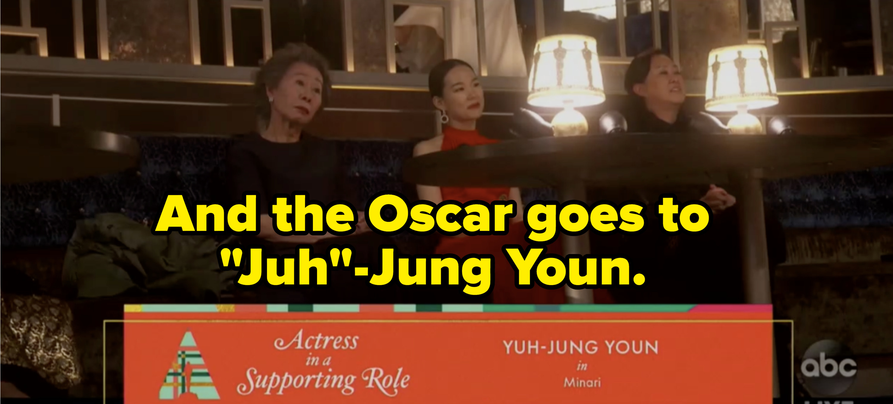 """""""And the Oscar goes to 'Juh'-Jung Youn"""""""