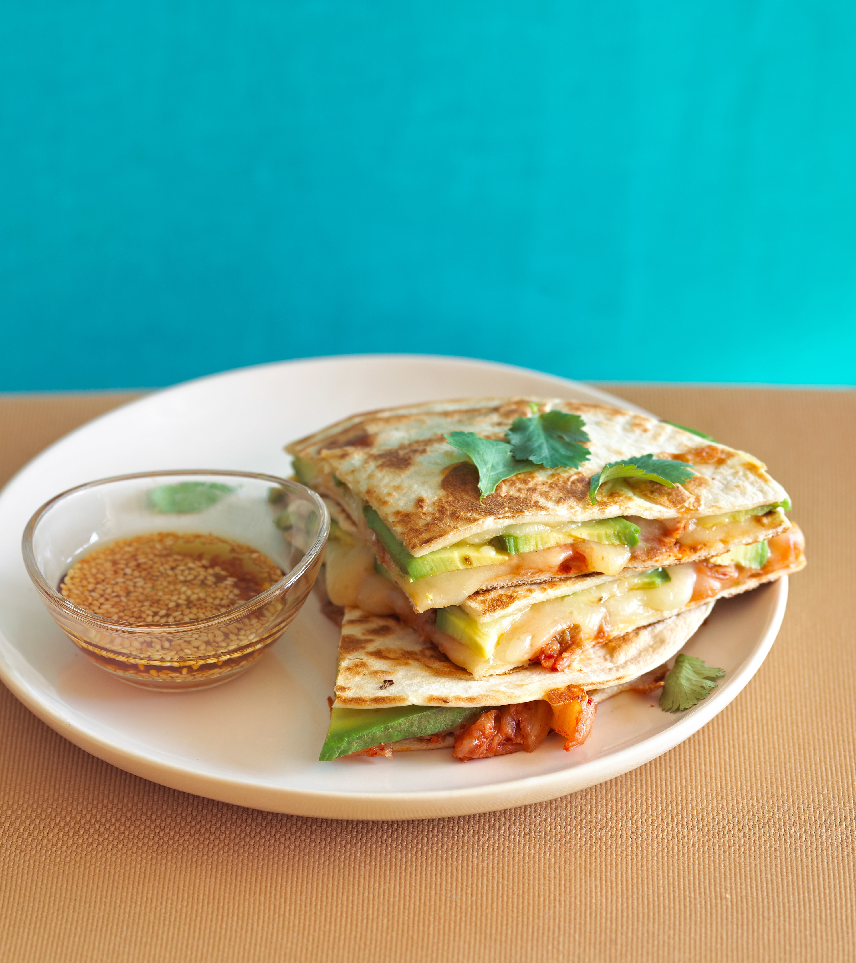 An image of a quesadilla on a plate