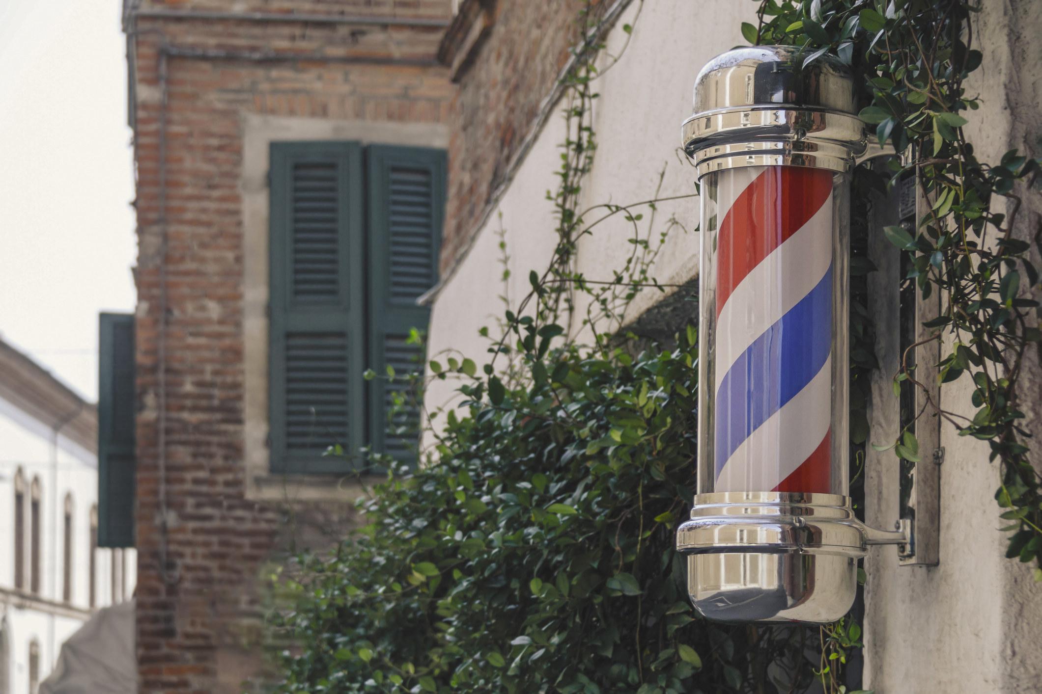 a barber pole