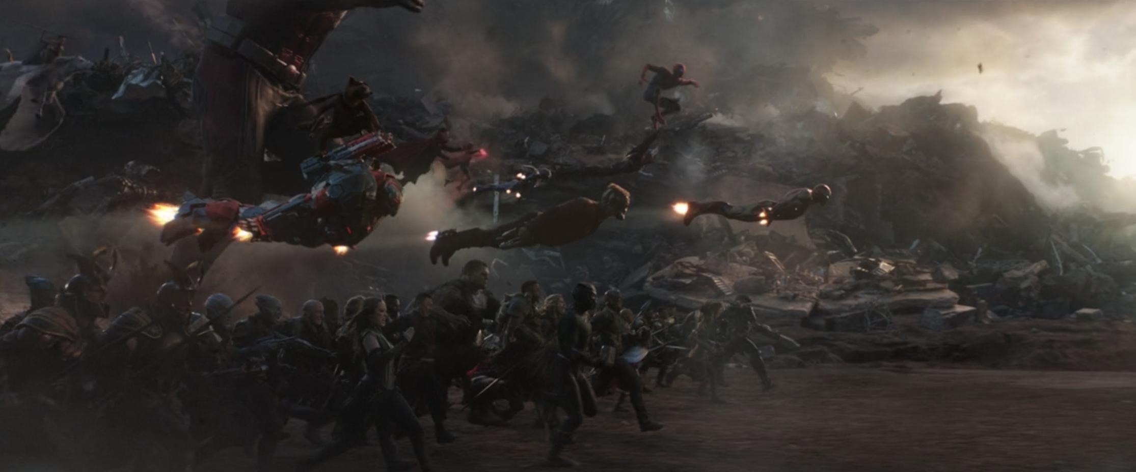 Endgame battle scene
