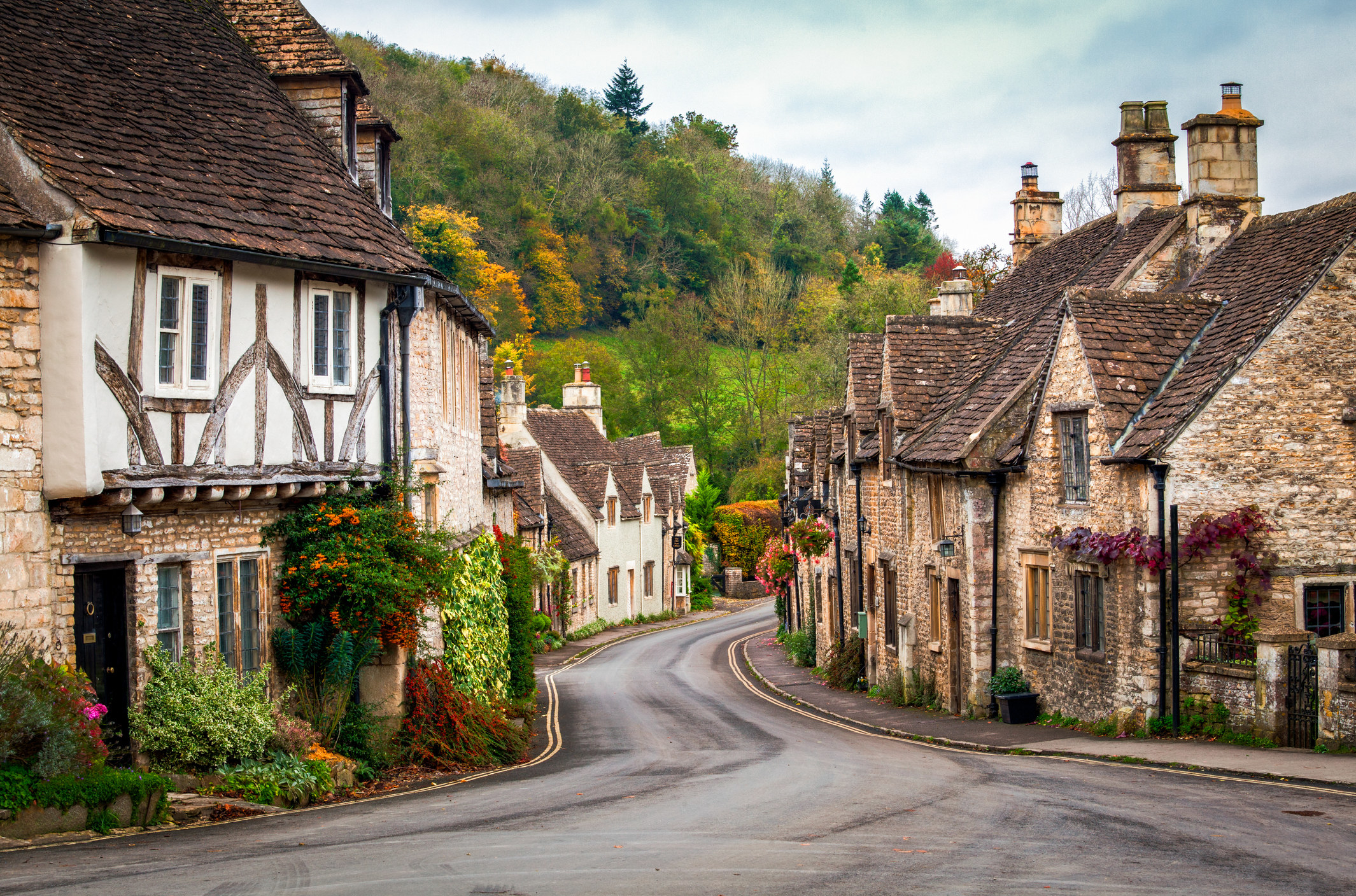 A town in the English countryside.