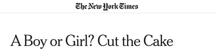 a boy or girl cut the cake headline