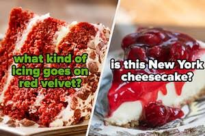 红色天鹅绒蛋糕,纽约芝士蛋糕