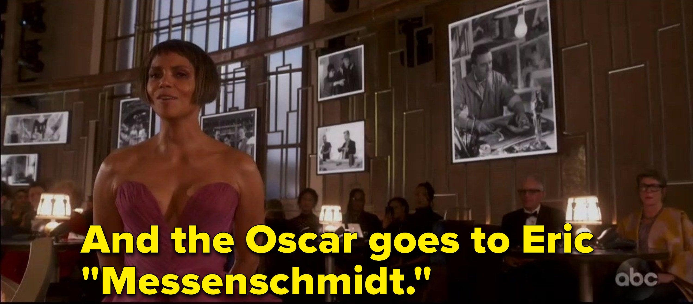 """And the Oscar goes to Erik 'Messenschmidt'"""