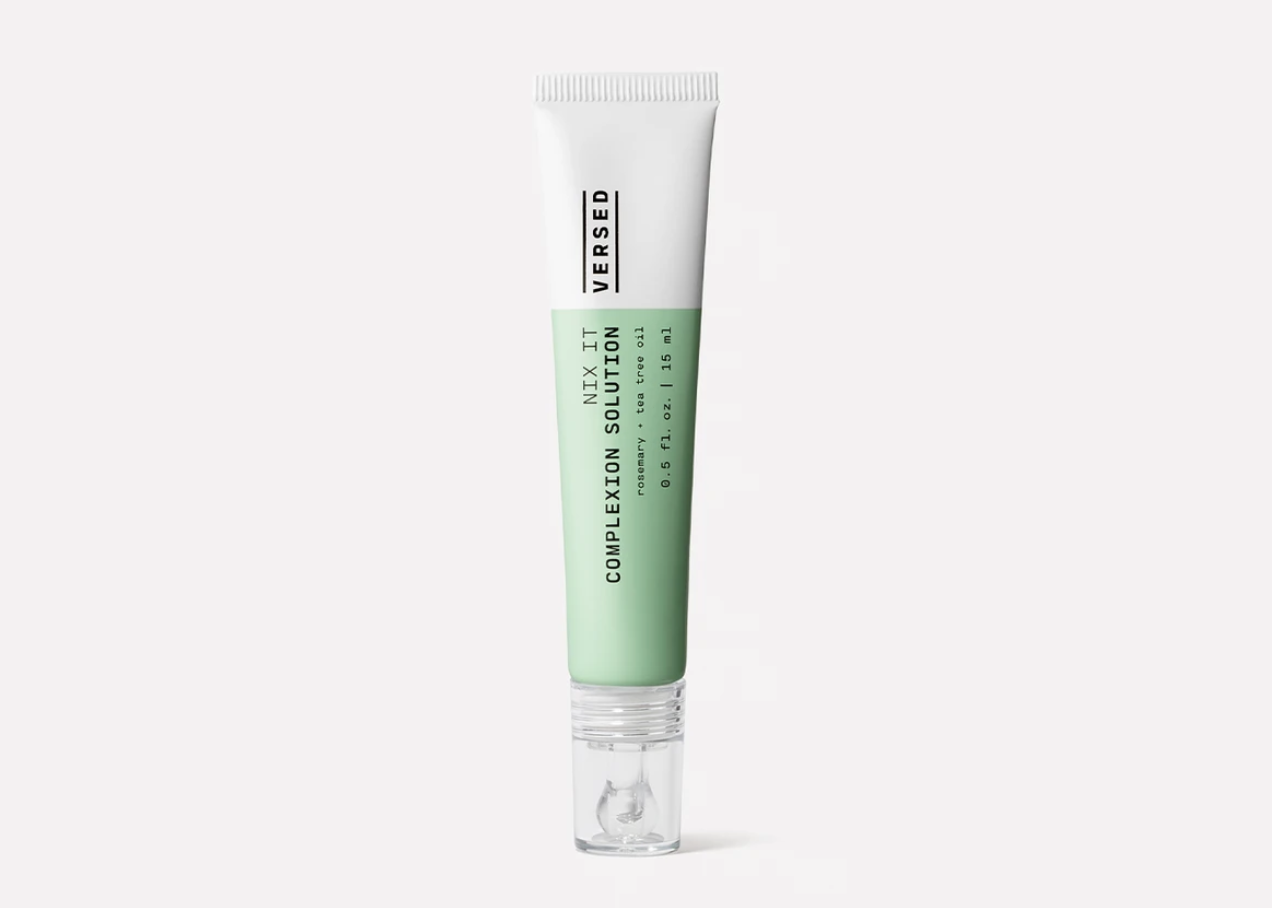 A tube of Versed complexion solution