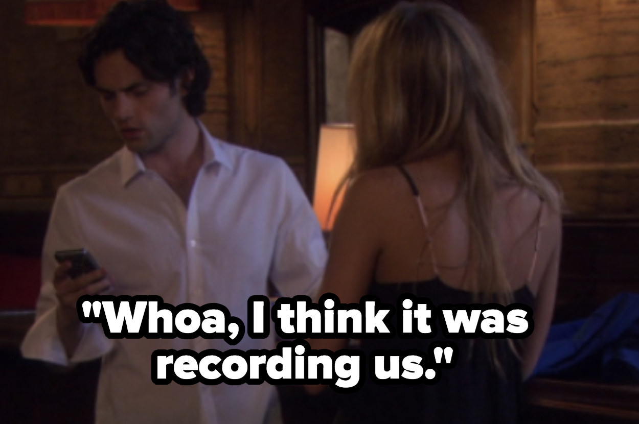 Dan realizes the phone was recording him and Serena hooking up