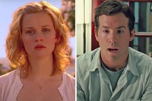 """On the left, Reese Witherspoon as Elizabeth in """"Just Like Heaven,"""" and on the right, Ryan Reynolds as Will in """"Definitely, Maybe"""""""