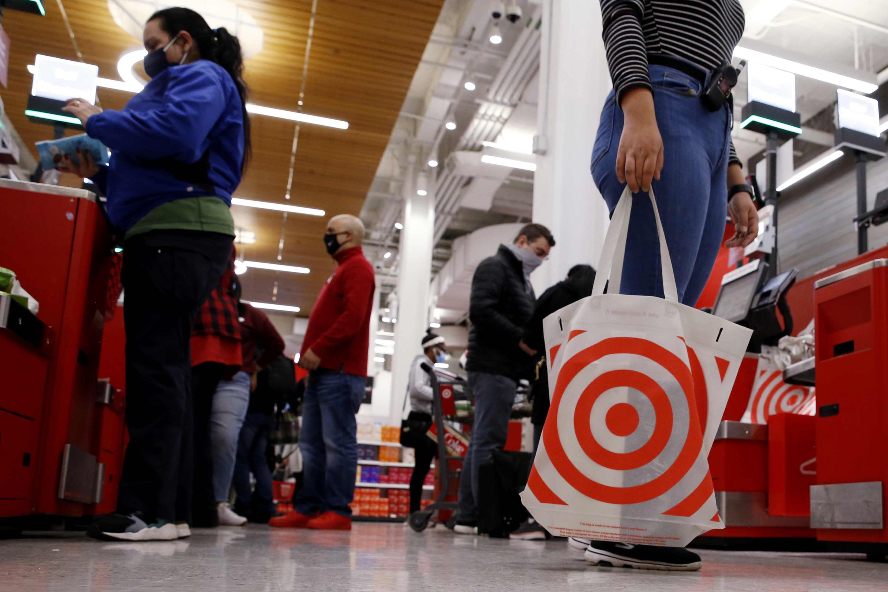 Shoppers in Target