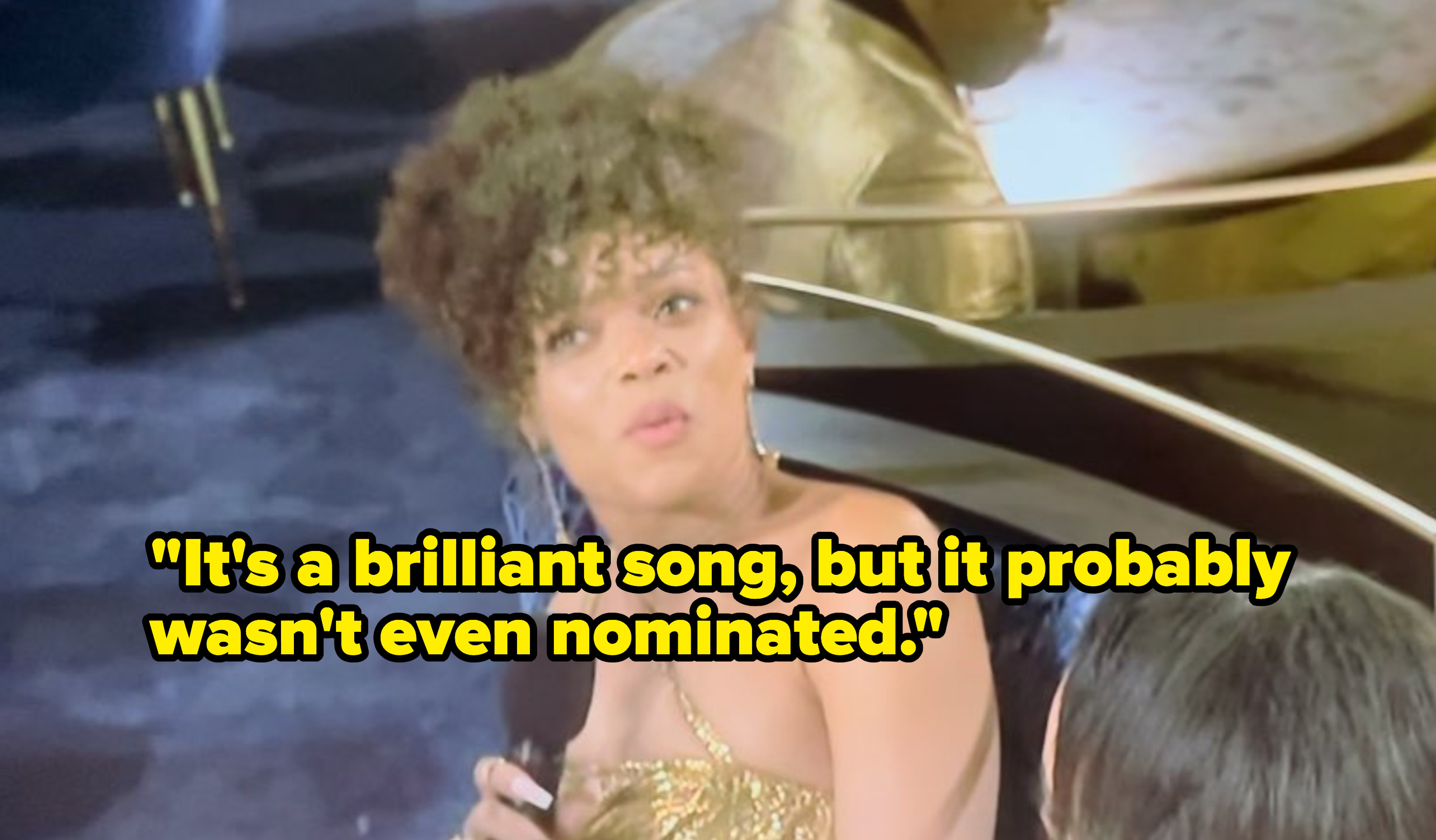 """Andra Day saying, """"It's a brilliant song, but it probably wasn't even nominated"""""""