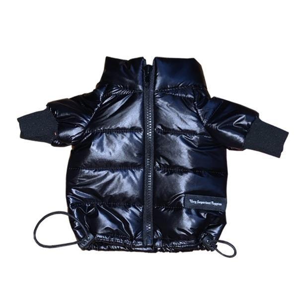 The coat, in black
