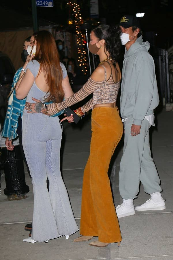 Bella removes Zayn's hand from Gigi's butt