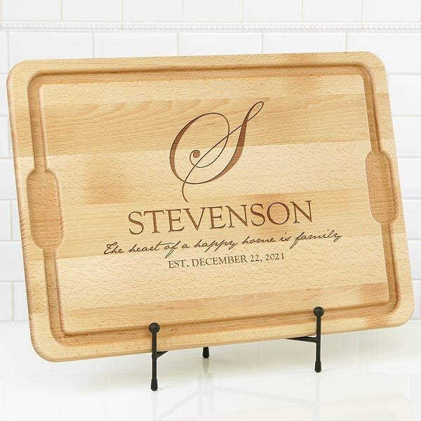 Maple personalized cutting board