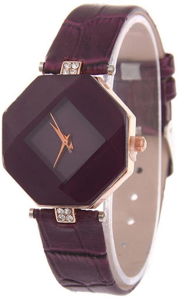 maroon wristwatch
