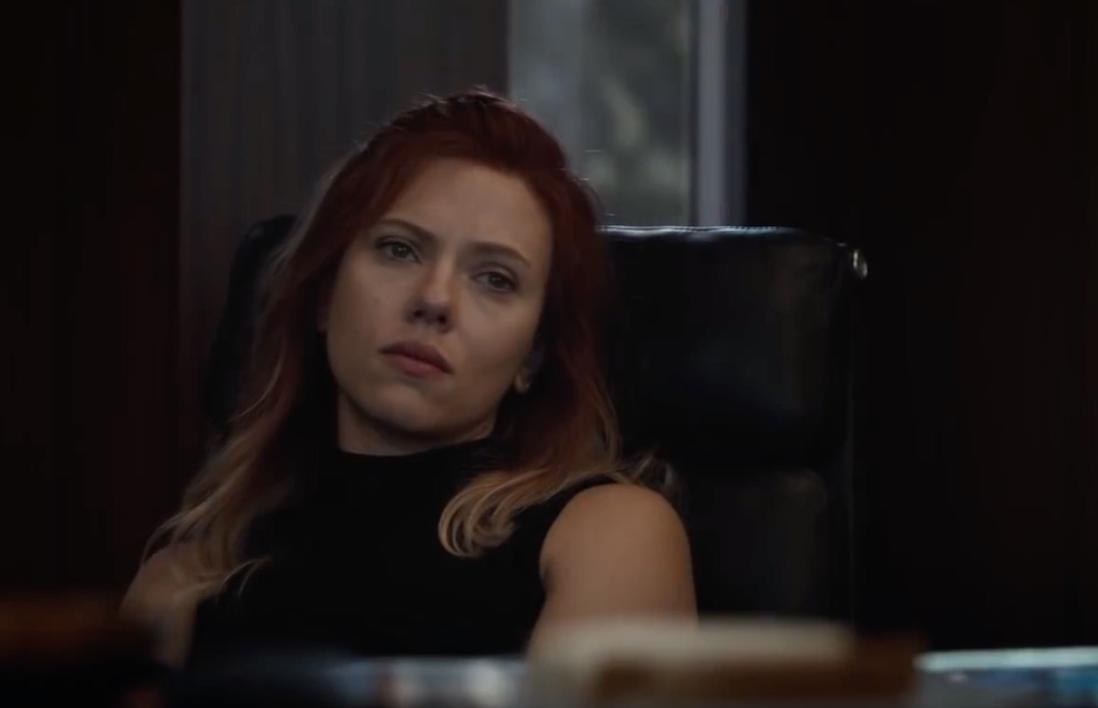 "Scarlett Johansson as Natasha Romanoff in the movie ""Avengers: Endgame."""