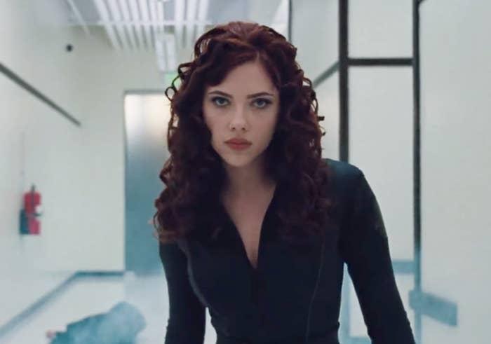 """Scarlett Johansson as Natasha Romanoff in the movie """"Iron Man 2."""""""