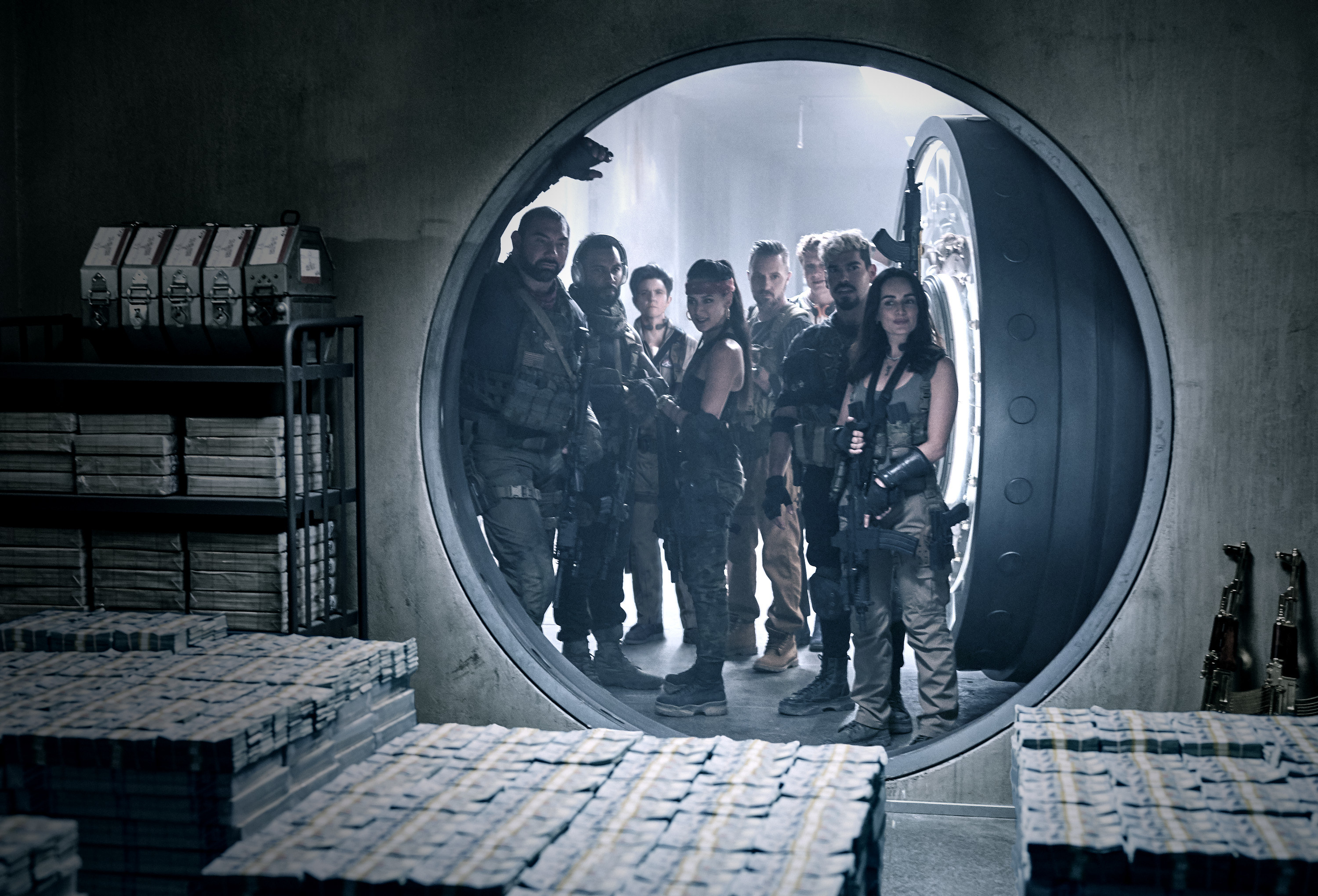 Dave Bautista as Scott Ward, Omari Hardwick as Vanderohe, Tig Notaro as Peters, Samantha Win as Chambers, Colin Jones as Damon, Matthias Schweighöfer as Dieter, Raúl Castillo as Mickey Guzman, and Ana de la Reguera as Cruz